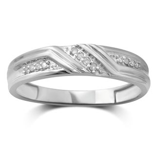 Unending Love 10K White Gold Diamond Band