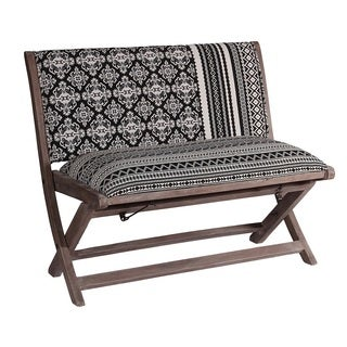 Jacquard Black & White Bench