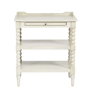 Harbor White Cottage 2-Shelf Open Nightstand