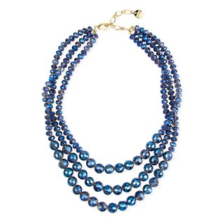 Handmade Saachi Triple Strand Beaded Necklace (China)