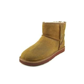 Ugg Australia Men's 'M Classic Mini Deco' Brown Leather Boots