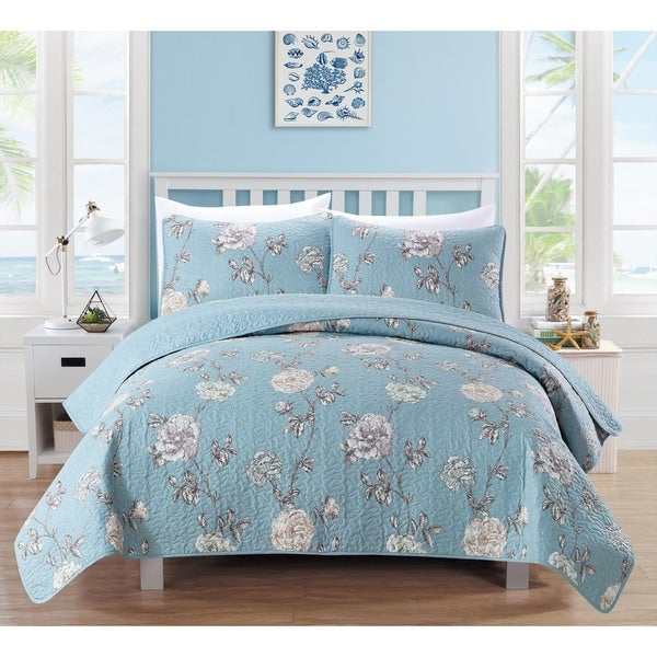 Home Fashion Designs Dempsey Collection 3-Piece Printed Quilt Set