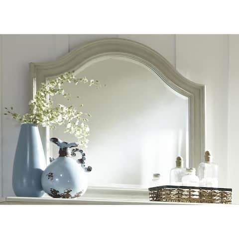 Harbor Dove Gray Cottage Arch Mirror - Grey
