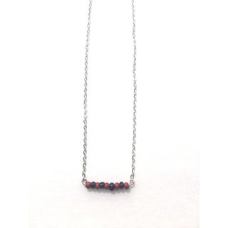 Black and Maroon Beaded Game Day Necklace