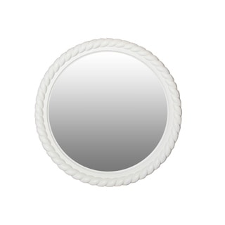 Harbor White Cottage Round Rope Mirror
