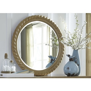 Harbor Sand Cottage Round Rope Mirror