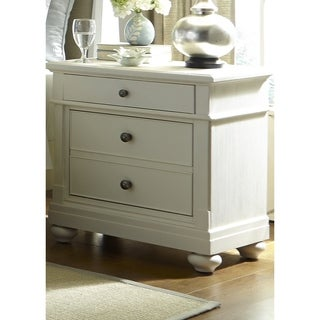 Harbor White Cottage 2-Drawer Nightstand