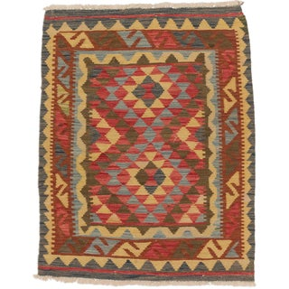 eCarpetGallery Multicolored Wool Hand-woven Kashkoli Kilim (2'10 x 3'10)