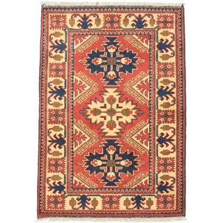 eCarpetGallery Finest Kargahi Brown, Yellow Wool Hand-knotted Rug (2'9 x 4')