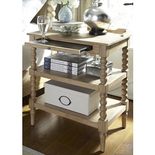 Harbor Sand Cottage 2-Shelf Open Nightstand