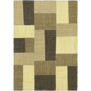 eCarpetGallery Mosaico Hand-woven Wool Kilim (2' x 2'11)