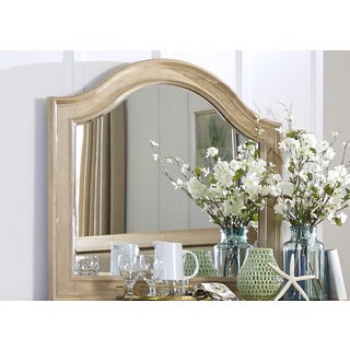 Harbor Sand Cottage Arch Mirror - Almond