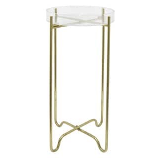 Three Hands Acrylic Serving Tray with Metal Stand