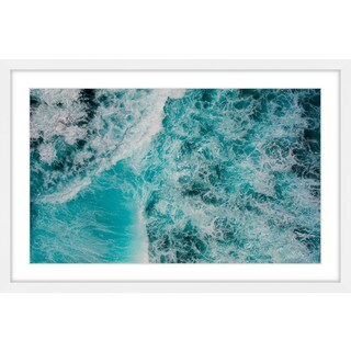 Marmont Hill - 'White Foamy Splashes' by Hassan Ishan Framed Painting Print