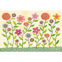 Marmont Hill - 'Summer Blooms' by Sascalia Painting Print on Wrapped Canvas - Multi-color