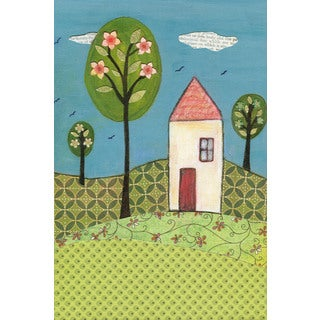 Marmont Hill - 'Little White House' by Sascalia Painting Print on Wrapped Canvas