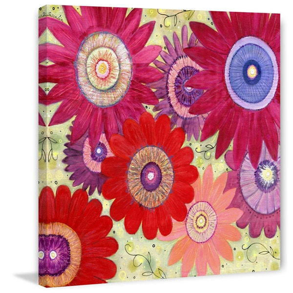 Marmont Hill - 'Summer Crush' by Sascalia Painting Print on Wrapped Canvas - Multi-color