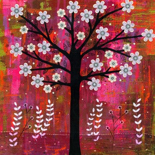 Marmont Hill - 'Sunset Tree' by Sascalia Painting Print on Wrapped Canvas