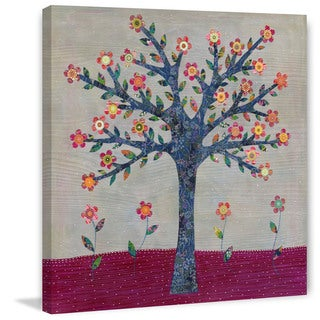 Marmont Hill - 'Whimsical Flower Tree' by Sascalia Painting Print on Wrapped Canvas