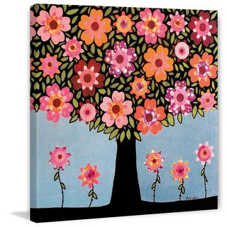 Marmont Hill - 'Flowering Tree' by Sascalia Painting Print on Wrapped Canvas