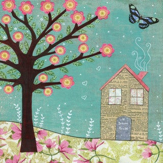 Marmont Hill - 'Dream House' by Sascalia Painting Print on Wrapped Canvas