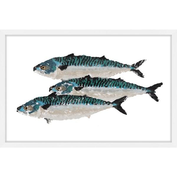 'Atlantic Mackerel' Framed Painting Print - Multi