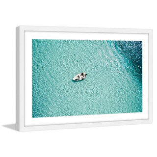 Marmont Hill - 'Clear Blue Lake' by Hassan Ishan Framed Painting Print - Multi