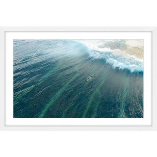 Marmont Hill - 'Majestic Wave' by Hassan Ishan Framed Painting Print