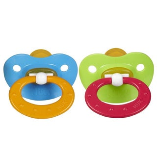 Nuk Juicy Blue/Green Latex 18- to 36-months Orthodontic Pacifier (2 Pack)
