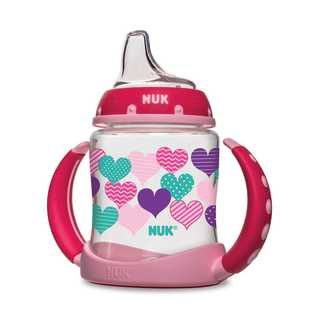 NUK Pink Hearts 5-ounce Learner Cup