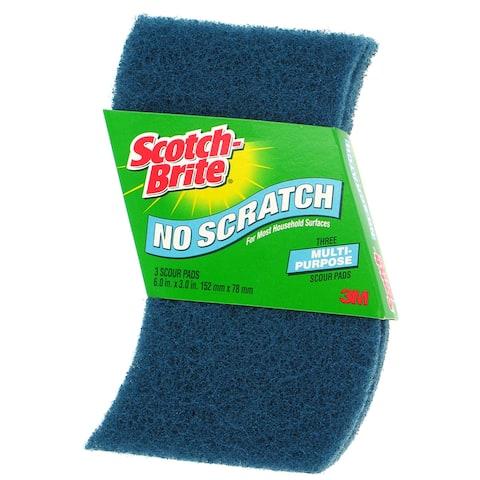 3M 623S-14 3-count Scotch-Brite No Scratch Scour Pads