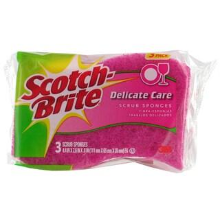 3M DD-3-8 Scotch-Brite Delicate Care Scrub Sponges 3-count