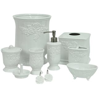 jessica simpson ellie bathroom accessory collection - White Bathroom Accessories Ceramic