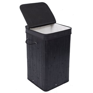 Link to BirdRock Home Square Laundry Hamper with Lid and Cloth Liner Similar Items in Laundry