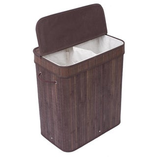 BirdRock Home Lidded Double Laundry Hamper
