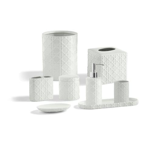 Porcelain Palm Bathroom Accessory Collection