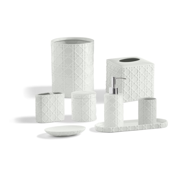 Porcelain Palm Bathroom Accessory Collection Free