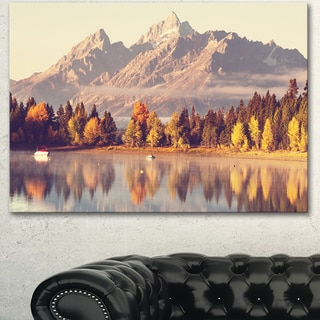 Designart 'Grand Teton National Park ' Oversized Landscape Canvas Art