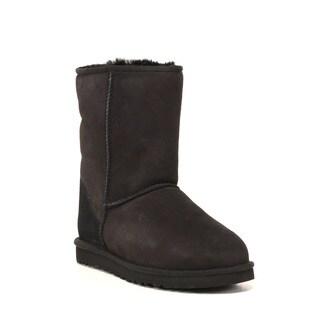 Ugg Australia Men's 'Classic Short' Regular Black Suede Boots