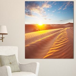 Designart 'Desert Dunes Reflecting Sunset' Oversized Landscape Canvas Art