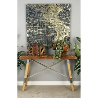Smart Wood Stainless Steel Console Table