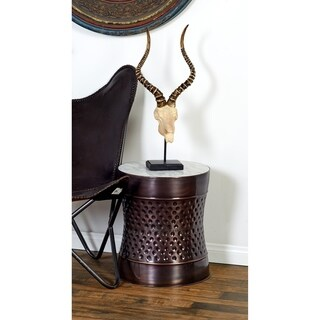Astounding Metal Marble Accent Table Set of Two