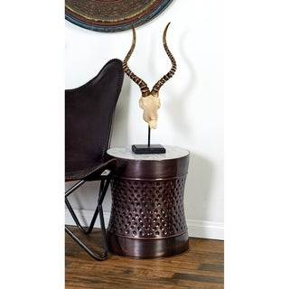 Studio 350 Metal Marble Accent Table Set of 2, 17 inches, 19 inches high