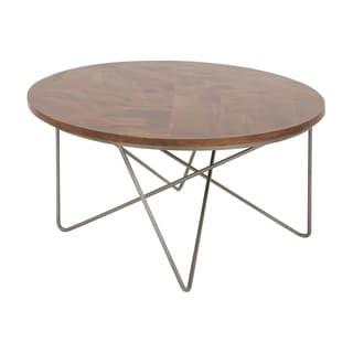 Charming Metal Wood Coffee Table