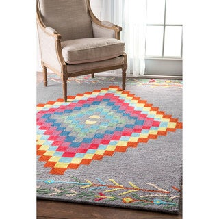 nuLOOM Handmade Tribal Medallion Multi Rug (7'6 x 9'6)