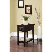 Theo White/Black/Espresso Wood Side Table