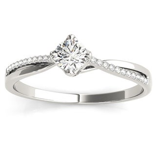 Transcendent Brilliance 14k Gold 1/4ct TDW Diamond Twisted Split Shank Engagement Ring (G-H, VS1-VS2)