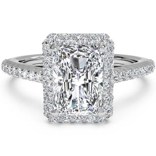 Transcendent Brilliance 14k Gold 1 3/4ct TDW Emerald-cut Diamond Engagement Ring (G-H, VS1-VS2)