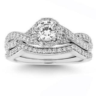 14K White Gold 3/4ct TDW White Natural Diamond Bridal Set (H-I, I1-I2)