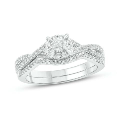 Cali Trove 14kt White Gold 1/2ct TDW Diamond Bridal set